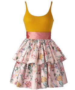 spring dress deep wide cleavage