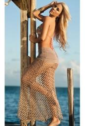 swimwear crochet cover up nude