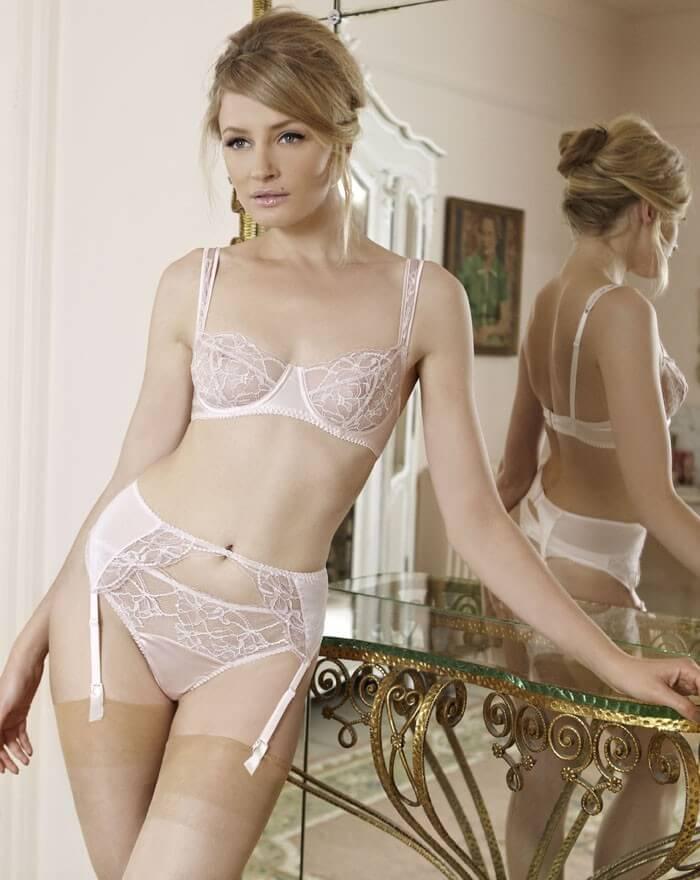 sheer lace bra set