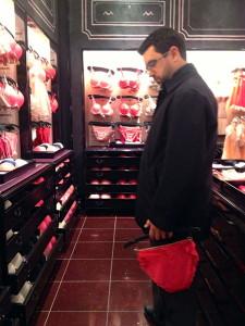 buying lingerie, men buying lingerie, man buying lingerie
